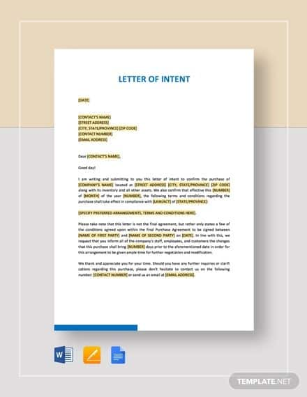 Letter Of Intent Template Free from grit.ph